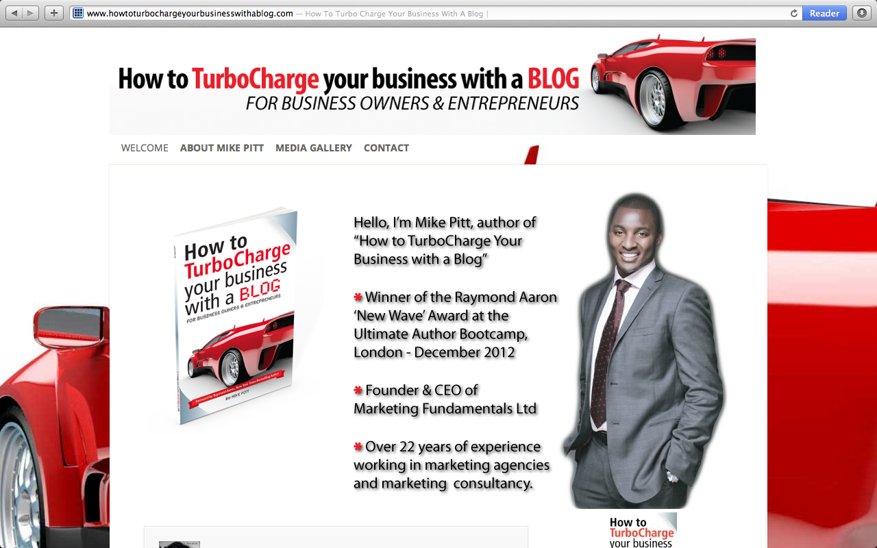 Mike Pitt  – How to TurboCharge Your Business with a Blog