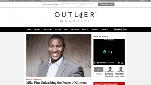 Mike Pitt - 'Unleashing the Power of Content' Podcast for Outlier Magazine