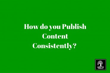 How do you publish content consistently