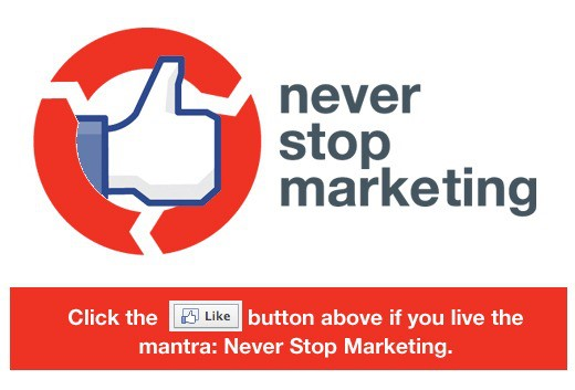 Growing business - never stop marketing