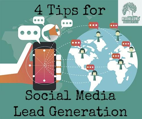 Online lead generation through social media