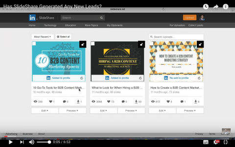 Has SlideShare Generated Any New Leads