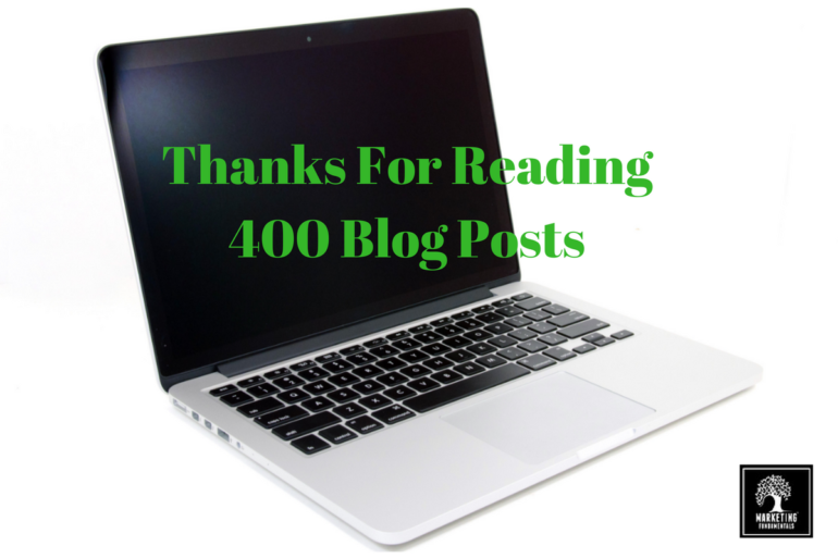 Thanks for reading 400 Blog Posts