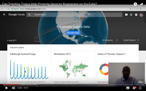 Can Trending Topics Help Promote Services Businesses on YouTube?