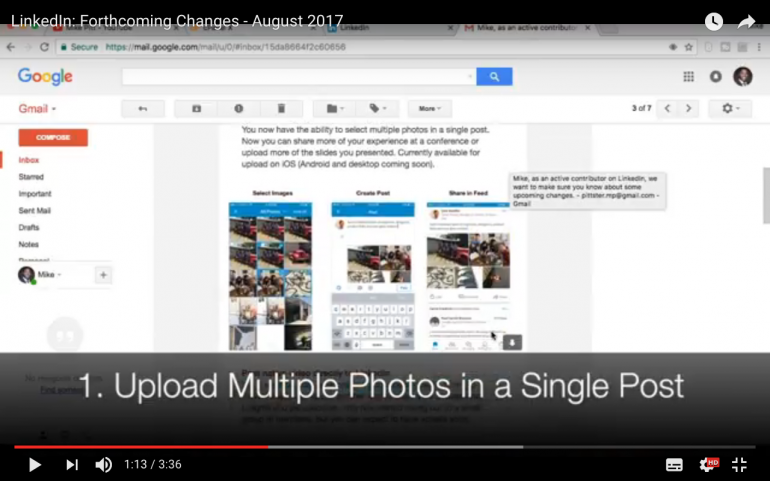 LinkedIn: Forthcoming Changes - August 2017