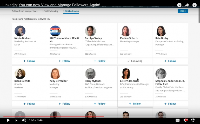 LinkedIn: You can now View and Manage Followers Again!