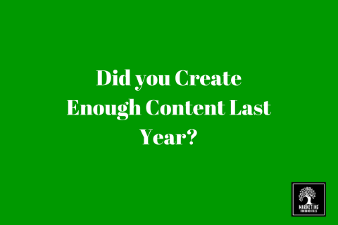 Did you create enough content last year