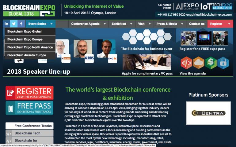 Blockchain Expo Global 2018 London